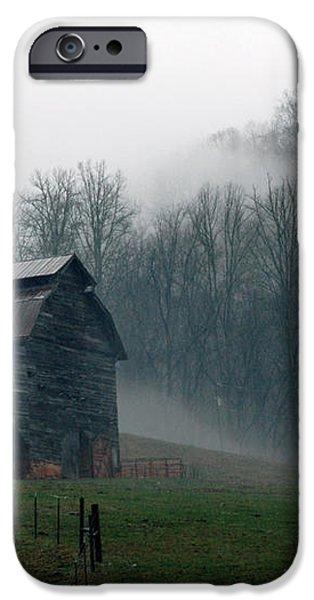 Smokey Mountains Barn iPhone Case by Kathy Schumann