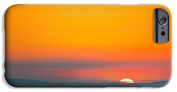 Smokey Mountains iPhone Cases - Smokie Sunrise iPhone Case by Steven Llorca