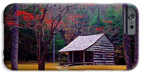 Log Cabins iPhone Cases - Smoky Mtn. Cabin iPhone Case by Paul W Faust -  Impressions of Light