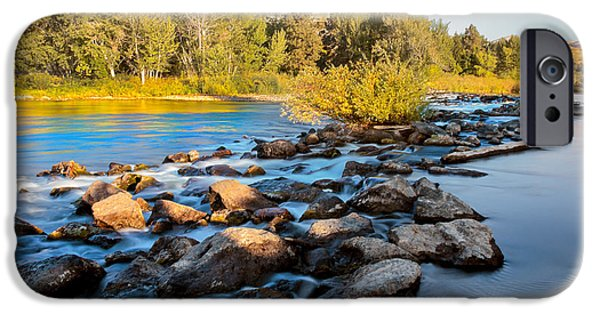 Silk Water iPhone Cases - Smooth Rapids iPhone Case by Robert Bales