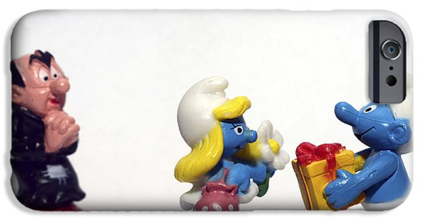 Best Sellers -  - Toy Store iPhone Cases - Smurf figurines iPhone Case by Amir Paz