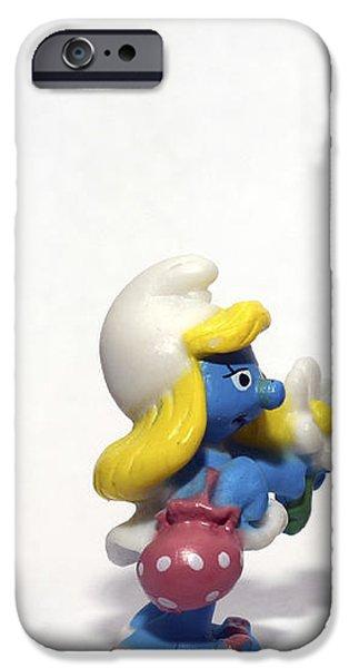 Smurf figurines iPhone Case by Amir Paz
