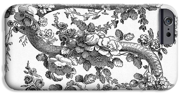 Serpent iPhone Cases - Snake And Roses, 1762 iPhone Case by Granger