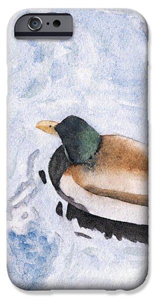 Snake Lake Duck Sketch iPhone Case by Ken Powers