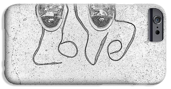 Sneaker iPhone Cases - Sneaker Love 2 iPhone Case by Paul Ward