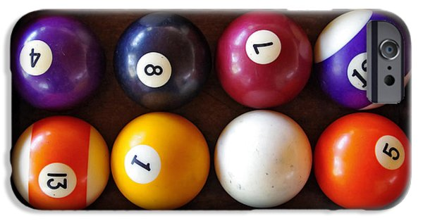 Action iPhone Cases - Snooker Balls iPhone Case by Carlos Caetano