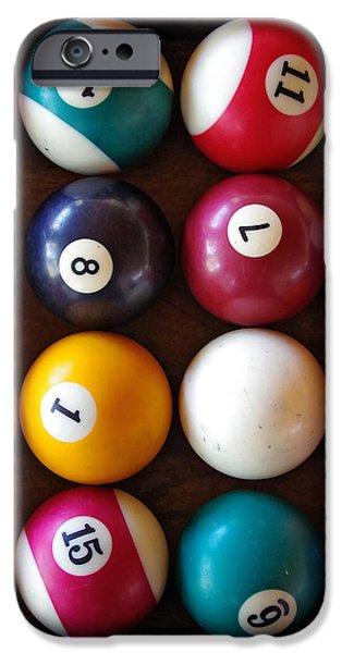 Snooker Balls iPhone Case by Carlos Caetano