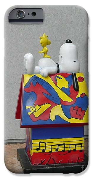 Doghouse iPhone Cases - Snoopy doghouse iPhone Case by Rrrose Pix