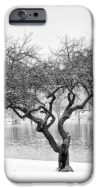 Snow Along the Schuylkill River iPhone Case by Bill Cannon