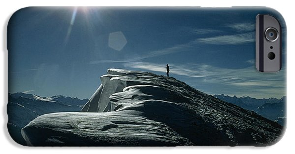 Snow Drifts Photographs iPhone Cases - Snow Cornices iPhone Case by Dr Juerg Alean