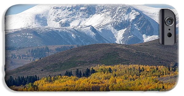 Snow iPhone Cases - Snow Covered Mountain iPhone Case by Jeff Lowe