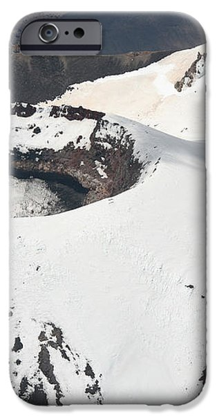 Snow-covered Ngauruhoe Cone, Mount iPhone Case by Richard Roscoe