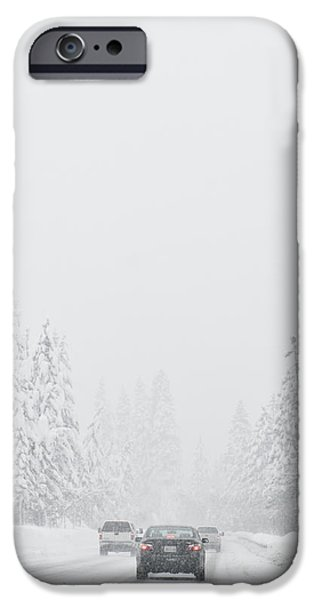 Snow-Covered Rural Highway iPhone Case by Dave & Les Jacobs