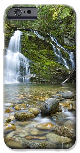 Snow Creek Falls iPhone Case by Idaho Scenic Images Linda Lantzy