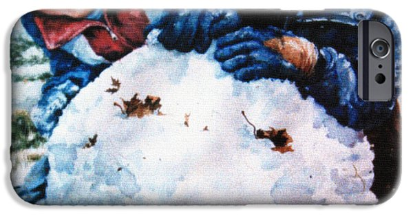 Winter Scene iPhone Cases - Snow Fun iPhone Case by Hanne Lore Koehler