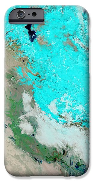 Iraq iPhone Cases - Snow In Iraq iPhone Case by Nasa