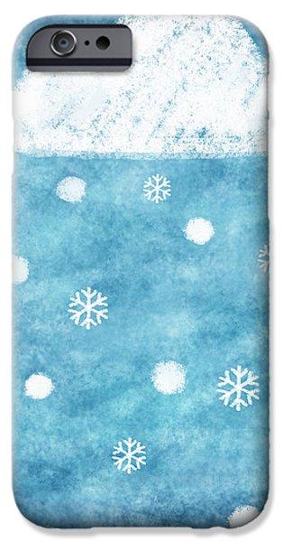 snow winter iPhone Case by Setsiri Silapasuwanchai