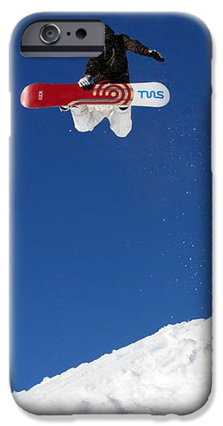 Snowboarder in Serre Chevalier France iPhone Case by Pierre Leclerc Photography