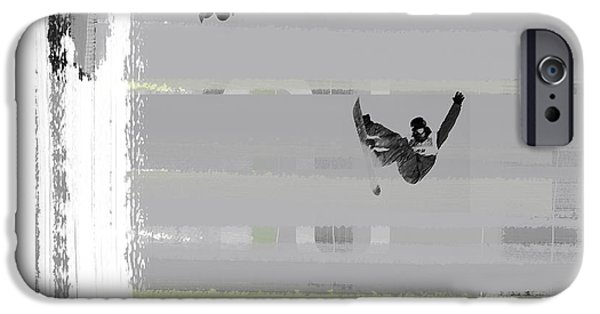 Sportsman iPhone Cases - Snowboarding iPhone Case by Naxart Studio