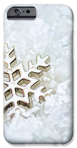 Snowflake iPhone Case by Darren Fisher
