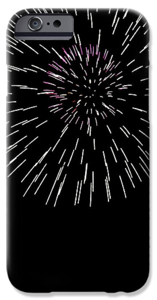 July 4th Digital Art iPhone Cases - Snowflake iPhone Case by Phill  Doherty