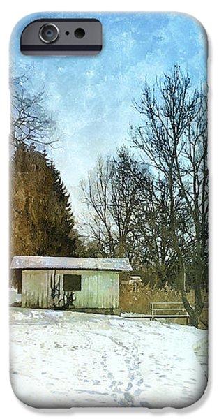 Snowy Beach iPhone Case by Jutta Maria Pusl