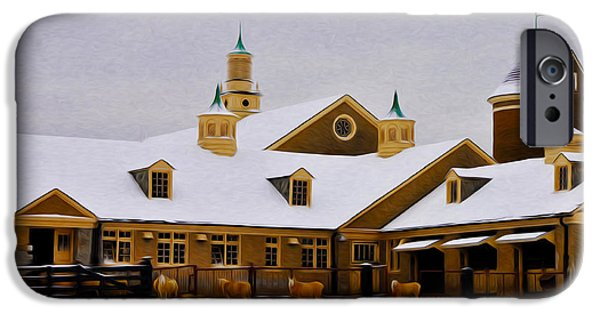 Snowy Day iPhone Cases - Snowy Day at Erdenheim Farm iPhone Case by Bill Cannon