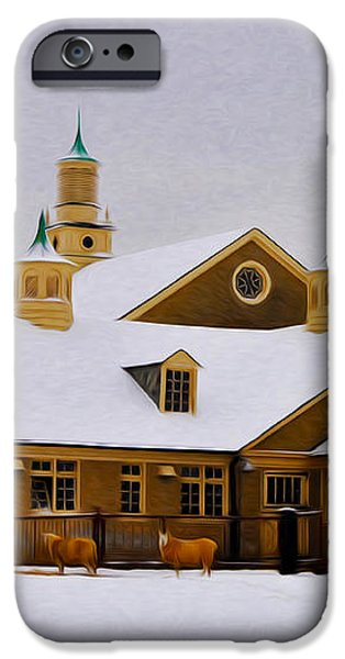 Snowy Day at Erdenheim Farm iPhone Case by Bill Cannon