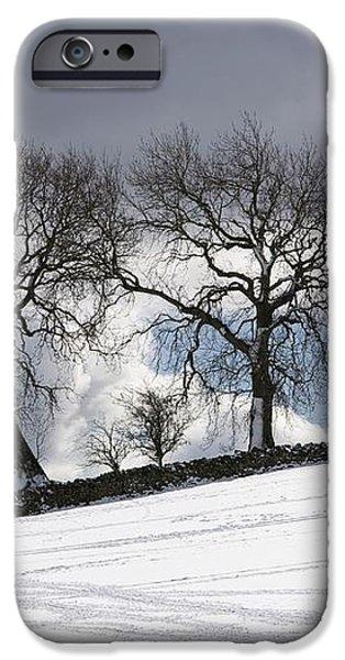 Snowy Field, Weardale, County Durham iPhone Case by John Short