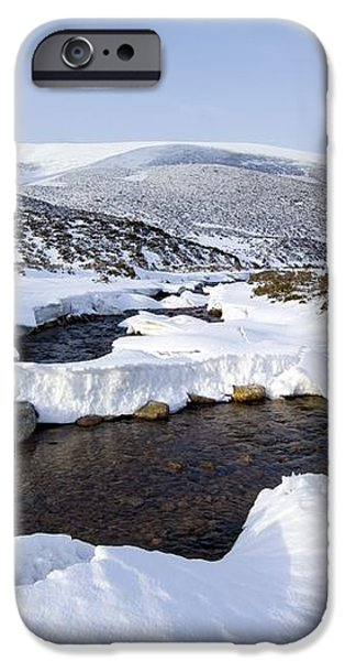 Snowy Landscape, Scotland iPhone Case by Duncan Shaw