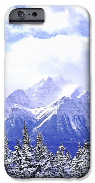 Skiing iPhone Cases - Snowy mountain iPhone Case by Elena Elisseeva