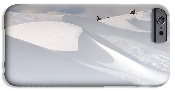 Snow iPhone Cases - Snowy mountains iPhone Case by Marta Holka
