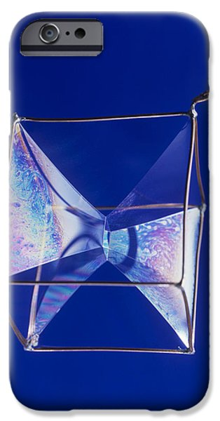 Coat Hanger iPhone Cases - Soap Films On A Cube iPhone Case by Andrew Lambert Photography