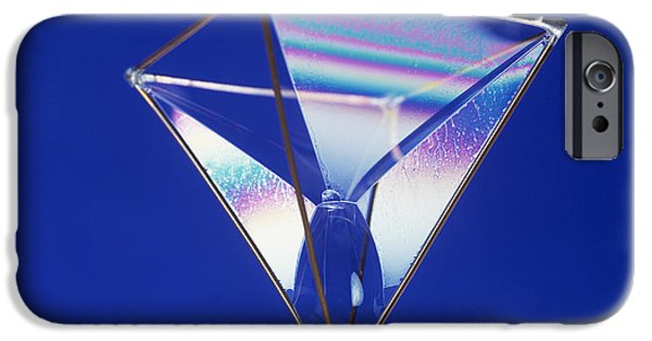 Coat Hanger iPhone Cases - Soap Films On A Pyramid iPhone Case by Andrew Lambert Photography