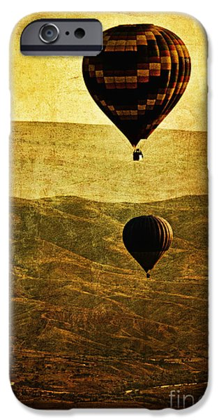 Hot Air Balloon iPhone Cases - Soaring Heights iPhone Case by Andrew Paranavitana