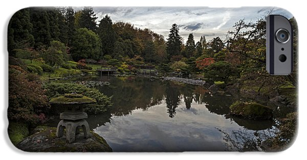 Japanese Garden iPhone Cases - Soaring Skies in the Garden iPhone Case by Mike Reid