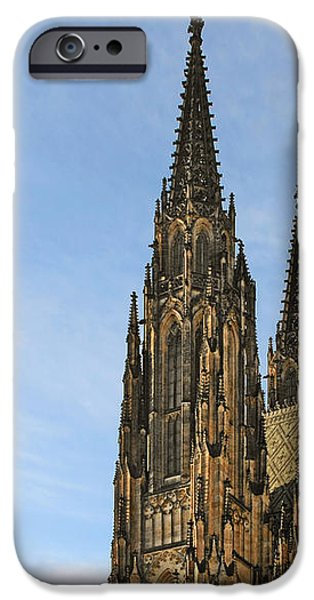 Soaring spires Saint Vitus' Cathedral Prague iPhone Case by Christine Till