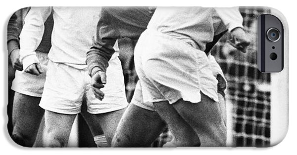 Sutton iPhone Cases - SOCCER MATCH, c1970 iPhone Case by Granger