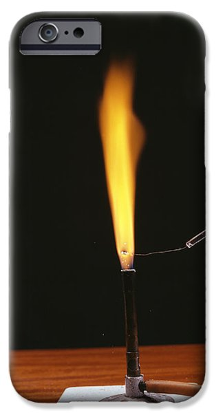 Sodium Flame Test iPhone Case by Andrew Lambert Photography