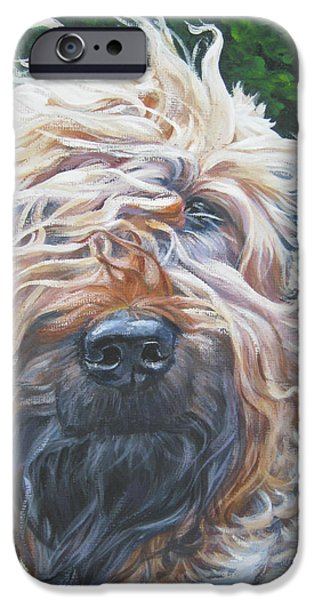 Terrier iPhone Cases - Soft Coated Wheaten Terrier iPhone Case by Lee Ann Shepard