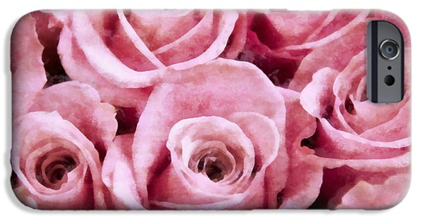Soft Pink Roses iPhone Case by Angelina Vick