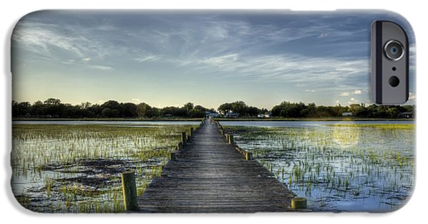 Folly iPhone Cases - Sol Legare Dock Charleston SC iPhone Case by Dustin K Ryan
