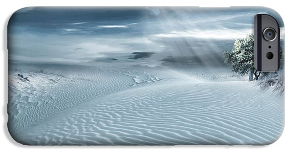 Sun Rays Digital iPhone Cases - Solace iPhone Case by Lourry Legarde