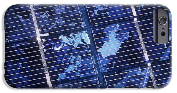 Electrical Equipment iPhone Cases - Solar Cells iPhone Case by Martin Bond