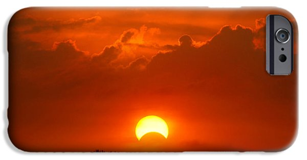 Solar Eclipse iPhone Cases - Solar Eclipse iPhone Case by Bill Pevlor