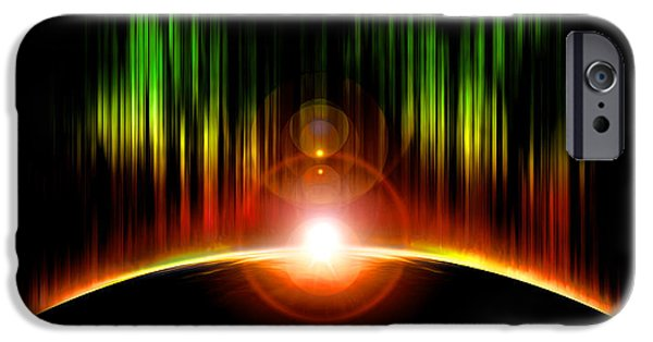 Solar Eclipse Digital iPhone Cases - Solar Eclipse iPhone Case by Svetlana Sewell