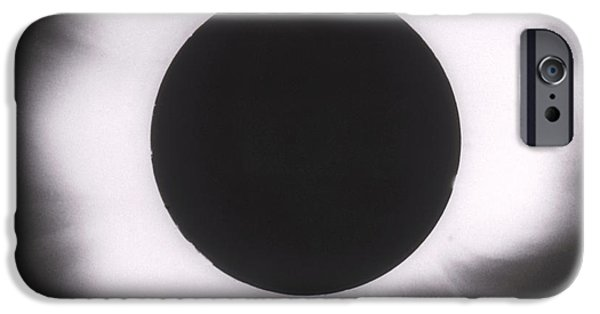 Solar Eclipse iPhone Cases - Solar Eclipse With Outer Corona iPhone Case by Science Source
