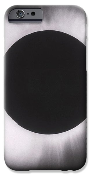 Solar Eclipse With Outer Corona iPhone Case by Science Source