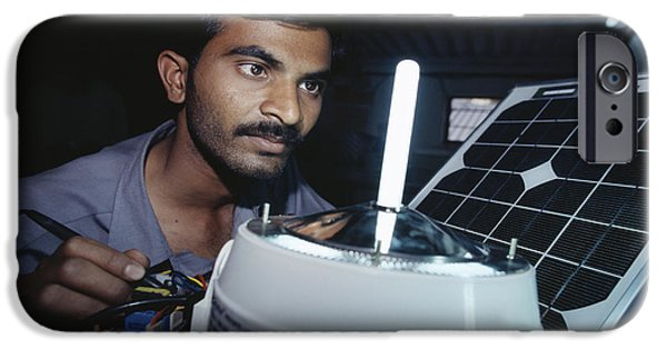 Solar Power iPhone Cases - Solar Lantern Manufacture iPhone Case by Volker Steger