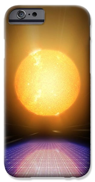 21st Century iPhone Cases - Solar Power, Conceptual Artwork iPhone Case by Detlev Van Ravenswaay